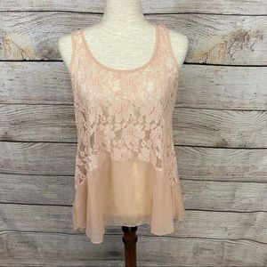 Buckle Daytrip Light Pink Lace Top